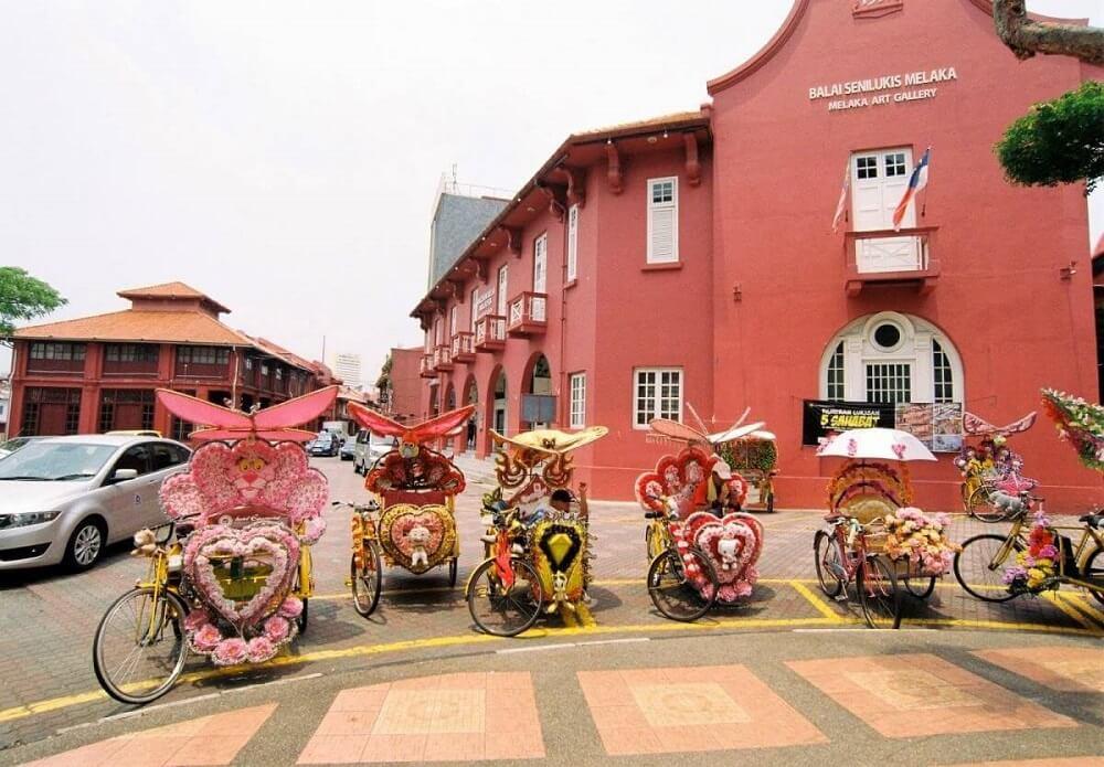 Một góc thành phố cổ Malacca
