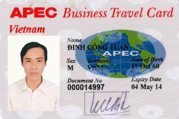 Mẫu thẻ doanh nhân APEC