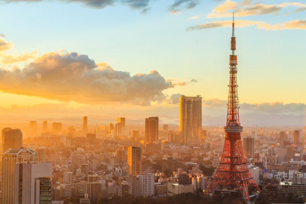 Nét đẹp hiện đại của tháp truyền hình Tokyo Sky Tree.